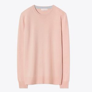 Tory Burch BELLA CASHMERE SWEATER Coastal Pink